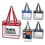 NFL Zippered Transparent Tote