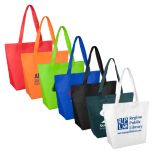 Non-Woven Tote with Gussets and Velcro Closing