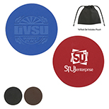 Set of 4 - Leather Coaster Set