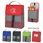 Front Flap ID Pocket Lunch Bag