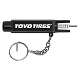 Tire Gauge on Key Ring