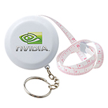 Circular Tape Measure on Key Ring