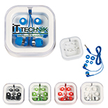 Ear Buds in Square-Shaped Case