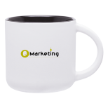 14 Oz. White Linolo Mug