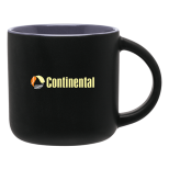 14 Oz. Black Linolo Mug