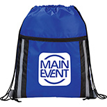 Deluxe Reflective Drawstring Backpack
