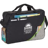 Convention Briefcase with Zippered Outer Pocket