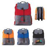 Poly Drawstring Back Pack with Adjustable Shoulder Straps
