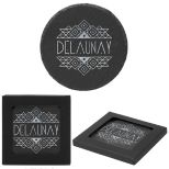 Round Slate Coaster in Gift Box