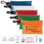 First Aid Kit in Vinyl Zipper Pouch with 9 Pieces including Meds