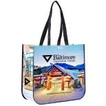 Non-Woven Laminated, Full Color Tote Bag, 15-3/4
