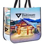 Non-Woven Laminated, Full Color Tote Bag, 15-3/4 x 14-1/2 x 6-1/2