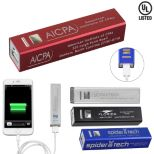 UL Listed Aluminium 2200 mAh Lithium Ion Portable Power Bank Charger