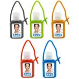 0.5 Oz. Hand Sanitizer Gel in Colorful Silicone Case