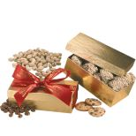 Gift Box with Peanuts, Chocolate Sport Balls or Other Fills
