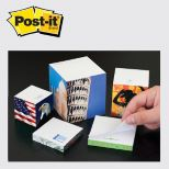 4 x 4 x 2 Post-it Notes Half-Cube