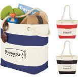 12 oz. Cotton Capri Stripes Shopper Tote