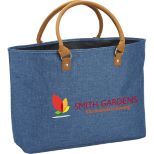 Heathered Suede Accent Tote