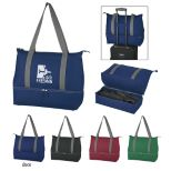 Travelers' Two Compartment Tote Bag
