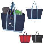 Two-Tone Lightweight Nylon Boat Bag