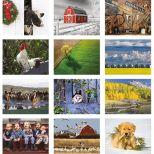 2018 The Old Farmer's Almanac Country Wall Calendar - Stapled