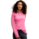Women's Vansport Melange 1/4-Zip Tech Pullover