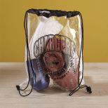 Clear Vinyl Drawstring Bag